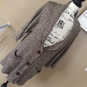 Michael Kors Brown button up cardigan sweater sz L